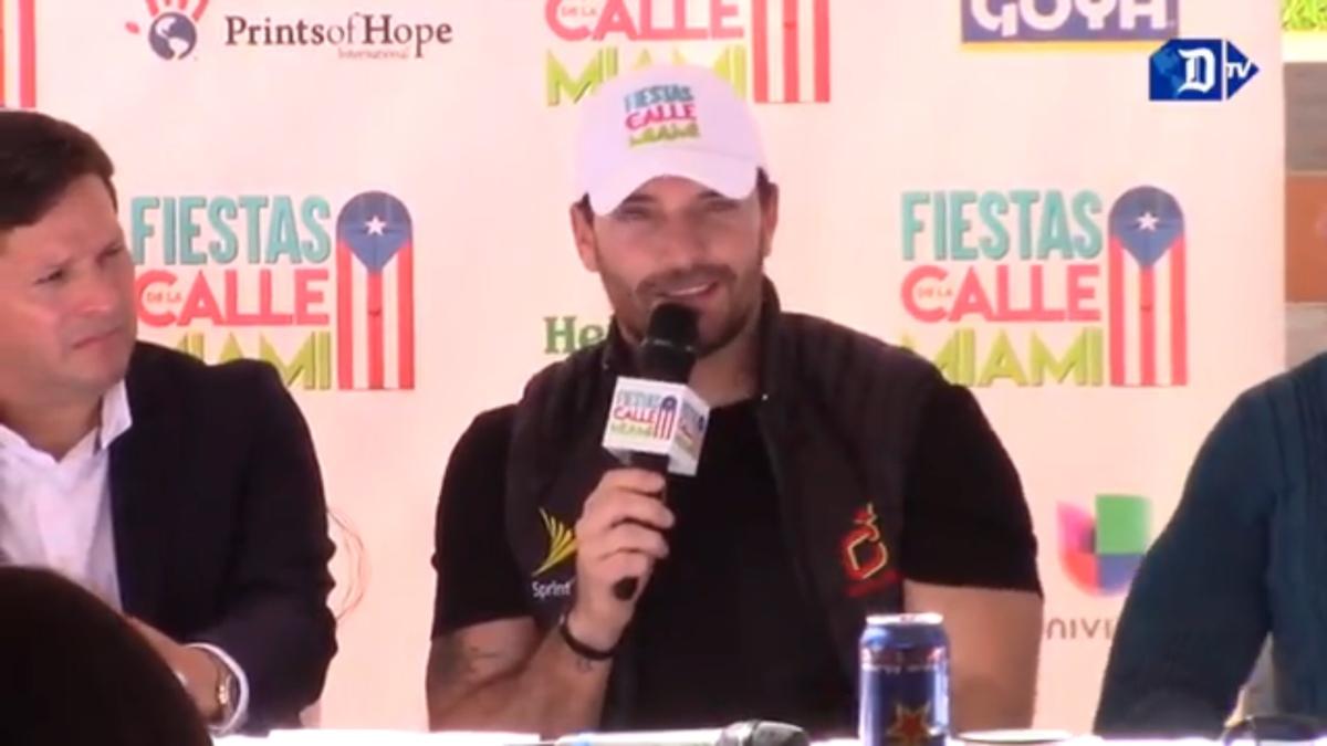 Julián Gil anuncia festival Fiesta de la Calle Miami